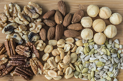 during holidays eat nuts for protein to stay satiated