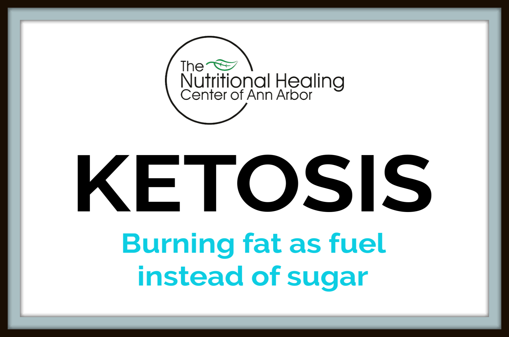 Ketosis burn fat as fuel instead of sugar