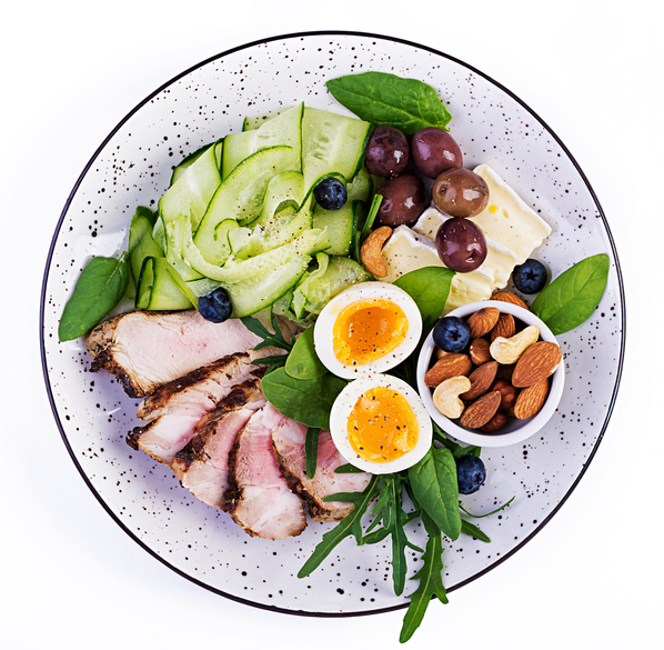 increase your health with good food with the proper proportions